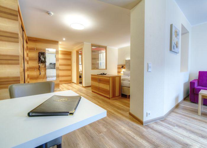 modernes Doppelzimmer ©Aparthotel Dorfplatzl
